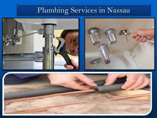 Plumbing Repairs and Services in Nassau