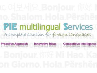 Multiple Foreign Language Outsourcing Services India