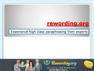 Effective Rewording Service