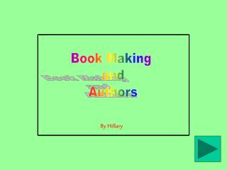 Book Making  and Authors