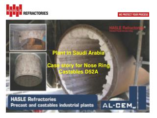 Plant in  Saudi  Arabia Case story for Nose Ring Castables D52A