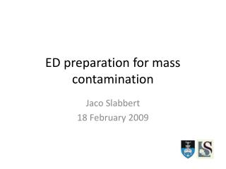 ED preparation for mass contamination