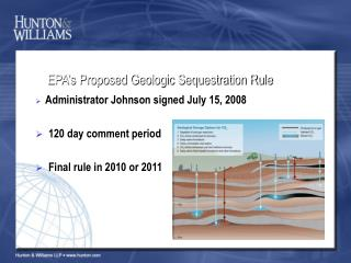 EPA's Proposed Geologic Sequestration Rule