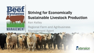 Striving for Economically Sustainable Livestock Production