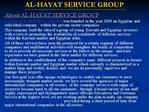 AL-HAYAT SERVICE GROUP