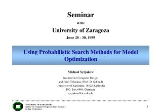 Using Probabilistic Search Methods for Model Optimization