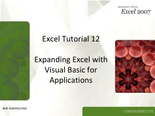 Excel Tutorial 12  Expanding Excel with Visual Basic for Applications