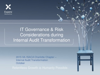 IT Governance & Risk Considerations during Internal Audit Transformation