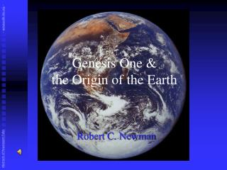 Genesis One &  the Origin of the Earth