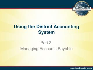 Using the District Accounting System
