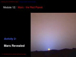 Module 12:    Mars - the Red Planet