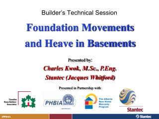 Builder's Technical Session