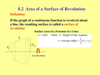 8.2  Area of a Surface of Revolution