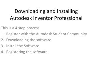 Downloading and Installing Autodesk Inventor Professional