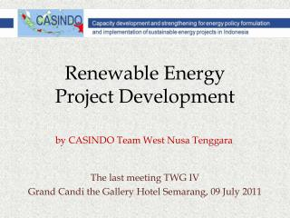 Renewable Energy  Project Development