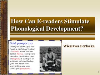 How Can E-readers Stimulate Phonological Development?