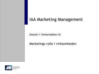 IAA Marketing Management