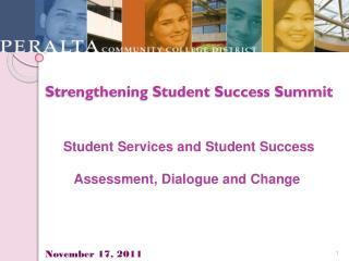 Strengthening Student Success Summit