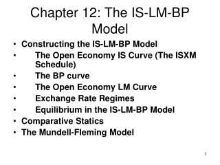 Chapter 12: The  IS-LM-BP Model