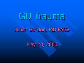 GU Trauma