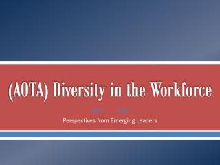 (AOTA) Diversity in the Workforce