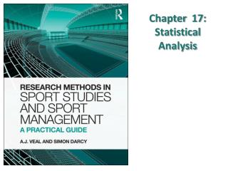 Chapter  17: Statistical Analysis
