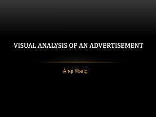 Visual Analysis of an Advertisement