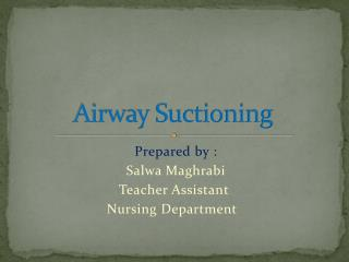 Airway Suctioning