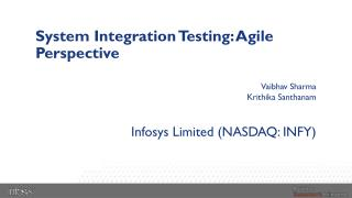 System Integration Testing: Agile Perspective