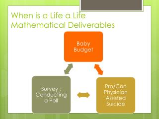When is a Life a Life Mathematical Deliverables