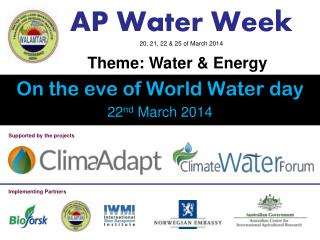 AP Water  Week 20, 21, 22 & 25 of March 2014