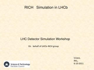 RICH   Simulation in  LHCb