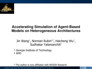 Accelerating Simulation of Agent-Based Models  on Heterogeneous  Architectures