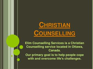 Counselling in Ottawa
