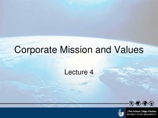 Corporate Mission and Values