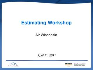 Estimating Workshop