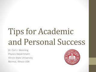 Tips for Academic  and Personal Success