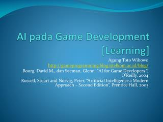 AI  pada  Game Development  [Learning]