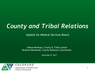 County and Tribal Relations