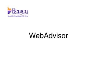 WebAdvisor