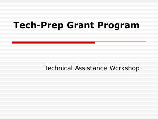 Tech-Prep Grant Program