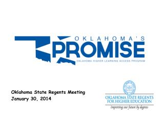 Oklahoma State Regents Meeting January 30, 2014