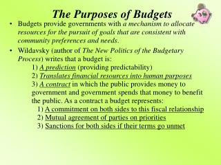 The Purposes of Budgets