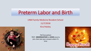 Preterm Labor and Birth