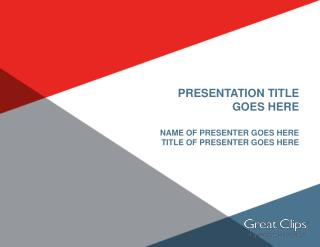 Presentation Title  Goes Here Name of presenter goes here Title of presenter goes here