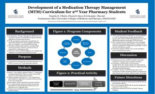 Development of a Medication Therapy Management (MTM) Curriculum for 2 nd  Year Pharmacy Students