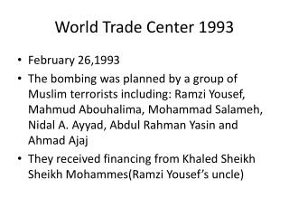 World Trade Center 1993