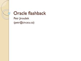 Oracle flashback