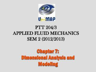 Chapter  7 :  Dimensional Analysis and Modeling
