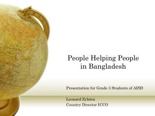 People Helping People in Bangladesh